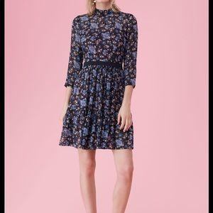 Rebecca Taylor Blue Solstice Floral Clip Dress